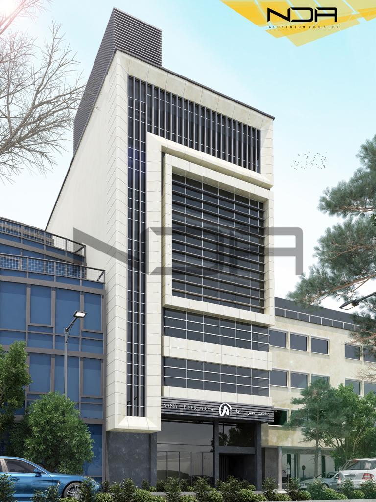 سازه کرتن وال نمای صنعت فیبر آریا